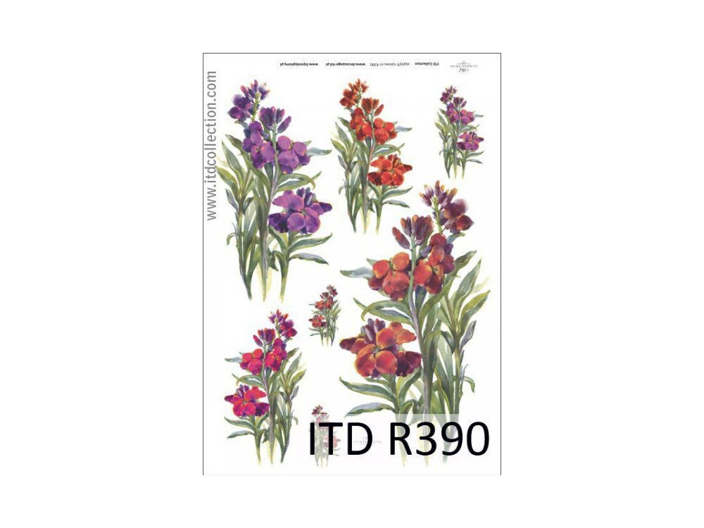 Papier do decoupage A4 - ITD Collection - ryżowy, R390