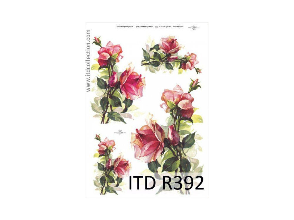 Decoupage Rice Paper ITD R392