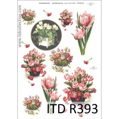 Papier ryżowy decoupage ITD R393