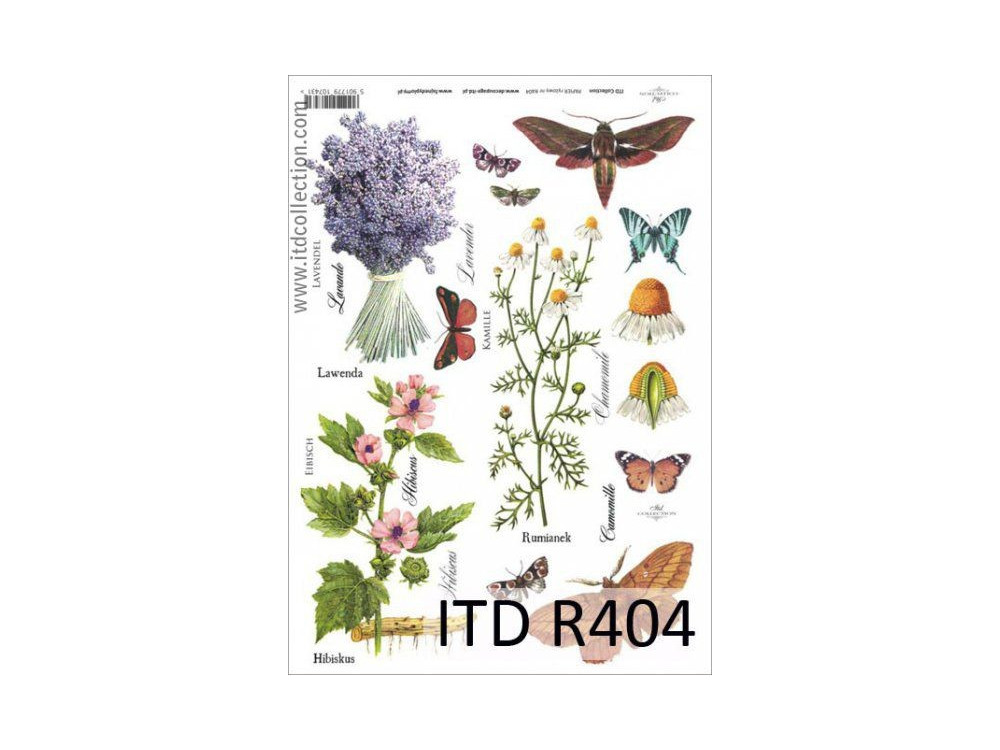 Papier do decoupage A4 - ITD Collection - ryżowy, R404