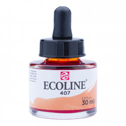 Liquid watercolor Ecoline in bottle - Talens - Deep Ochre, 30 ml