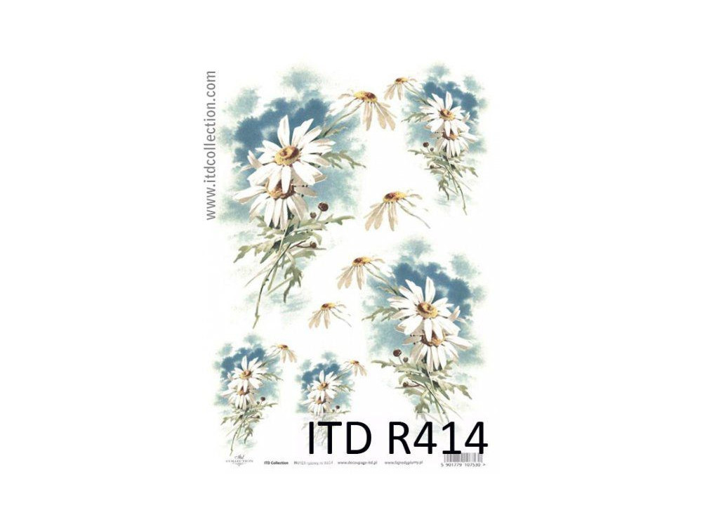 Papier do decoupage A4 - ITD Collection - ryżowy, R414
