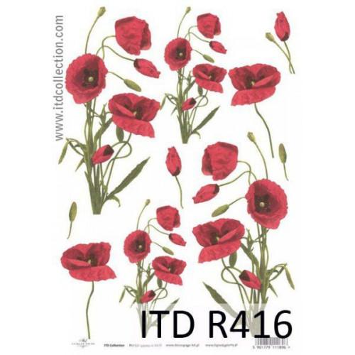 Papier ryżowy decoupage ITD R416