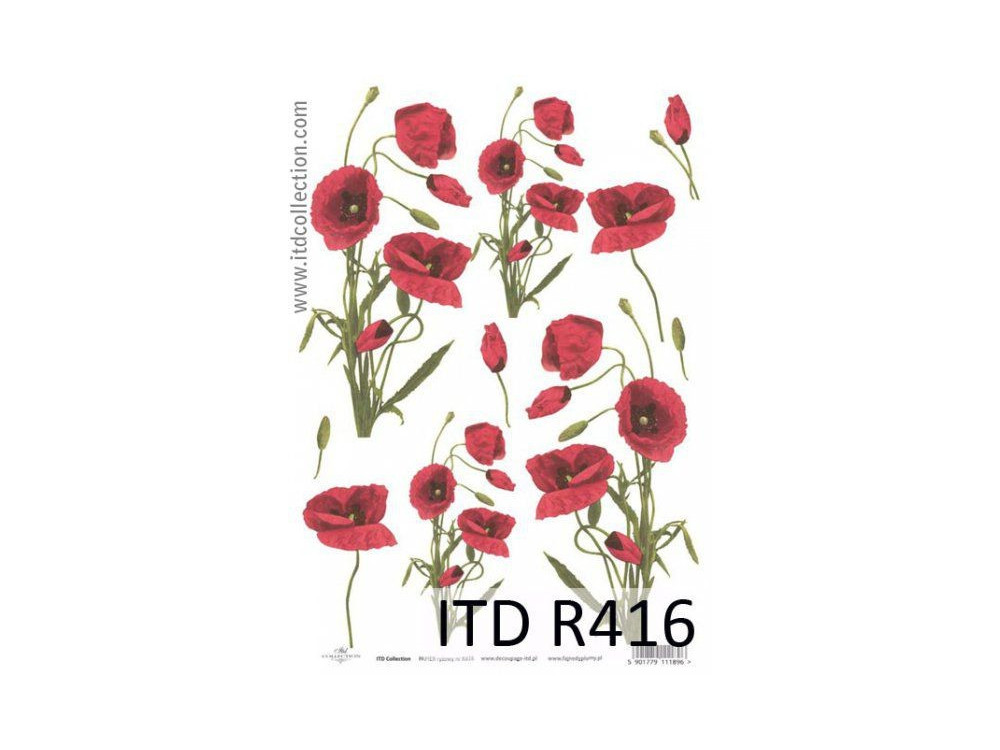 Decoupage paper A4 - ITD Collection - rice, R416