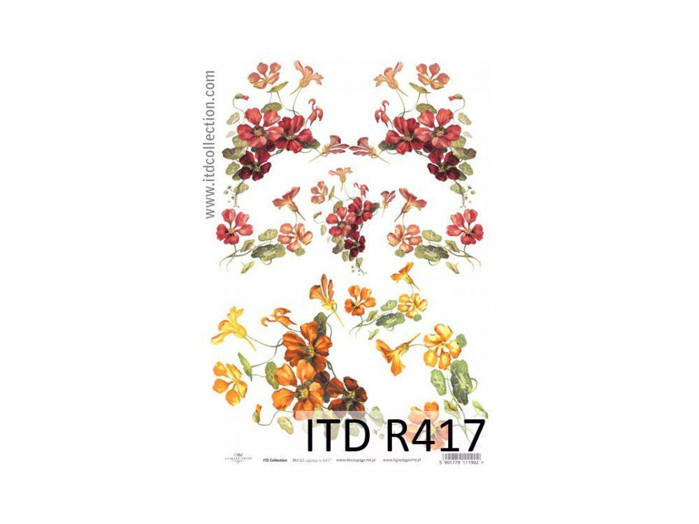 Papier do decoupage A4 - ITD Collection - ryżowy, R417