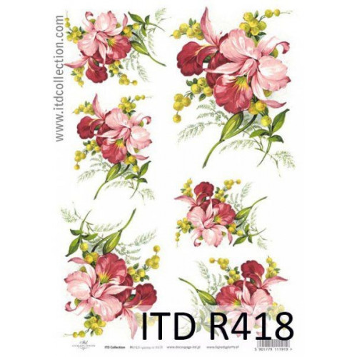 Papier ryżowy decoupage ITD R418