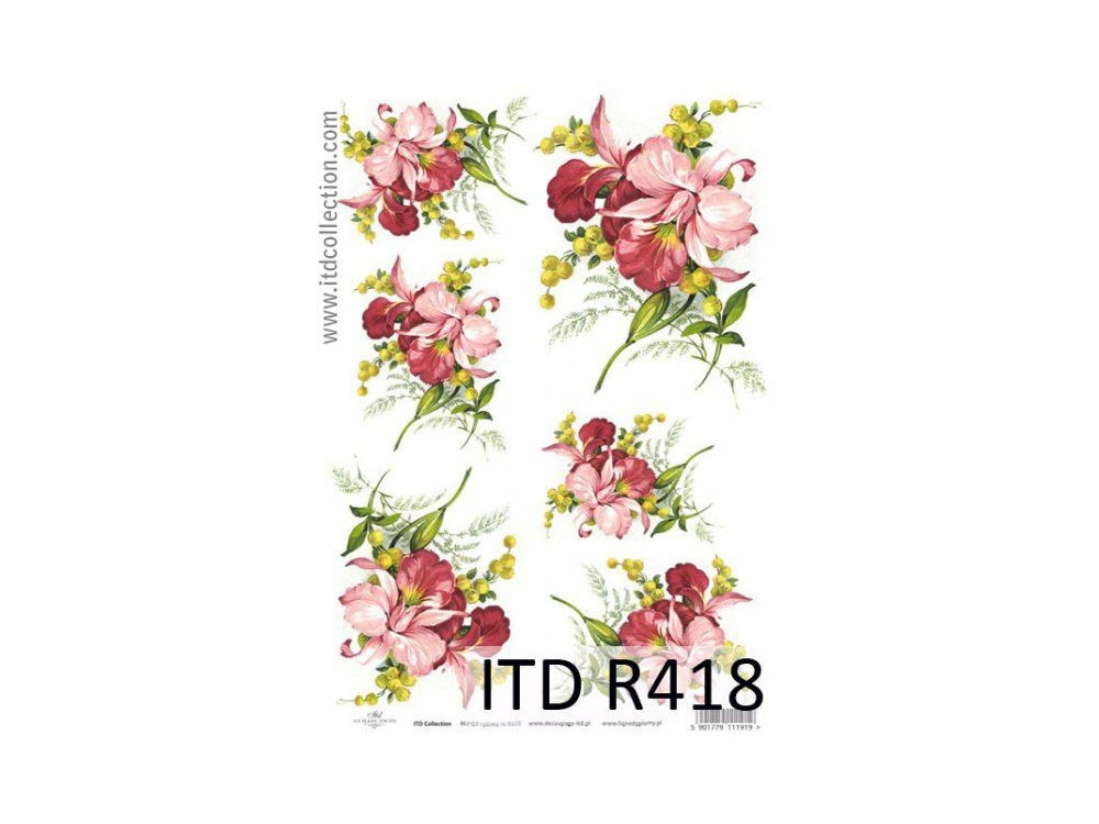 Papier do decoupage A4 - ITD Collection - ryżowy, R418