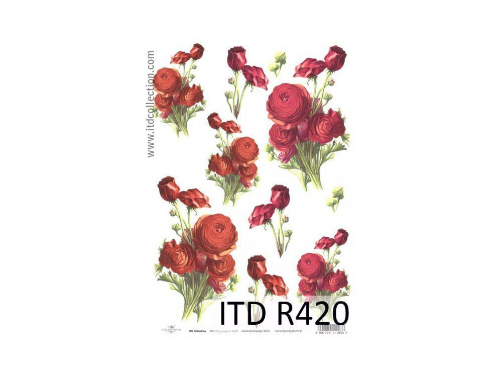 Papier do decoupage A4 - ITD Collection - ryżowy, R420