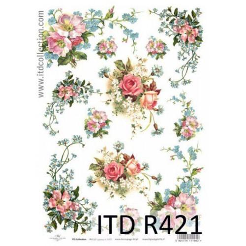 Papier ryżowy decoupage ITD R421