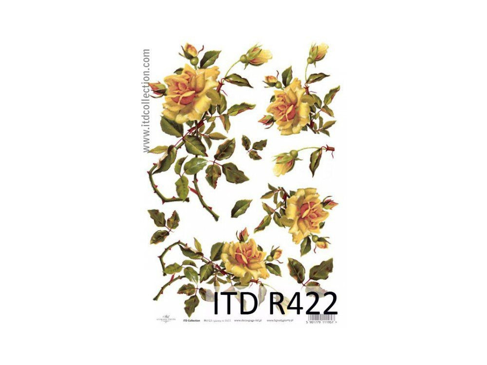 Papier ryżowy decoupage ITD R422