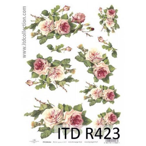Papier ryżowy decoupage ITD R423