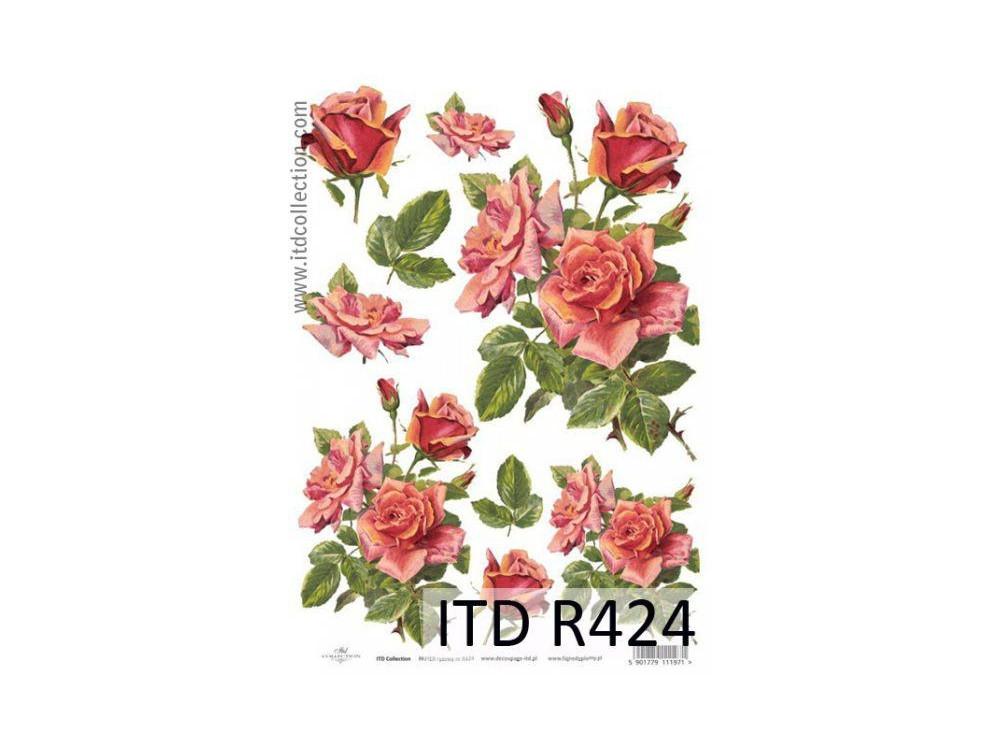 Papier ryżowy decoupage ITD R424