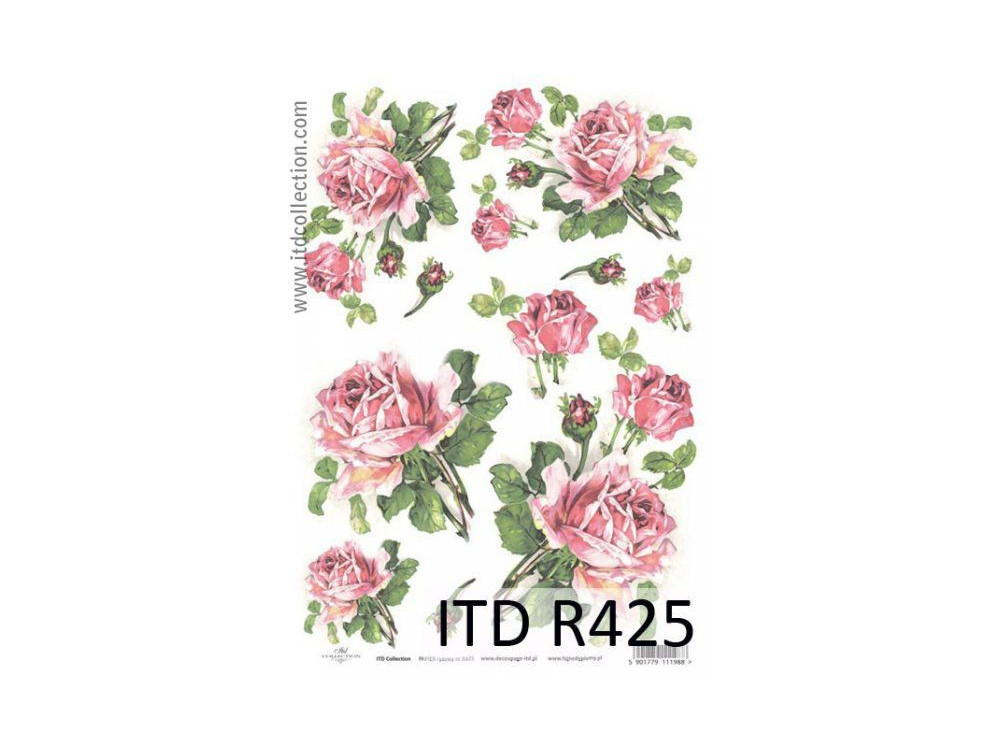 Papier ryżowy decoupage ITD R425