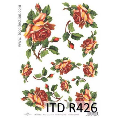Papier ryżowy decoupage ITD R426