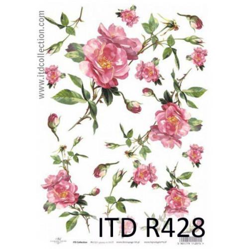 Papier ryżowy decoupage ITD R428