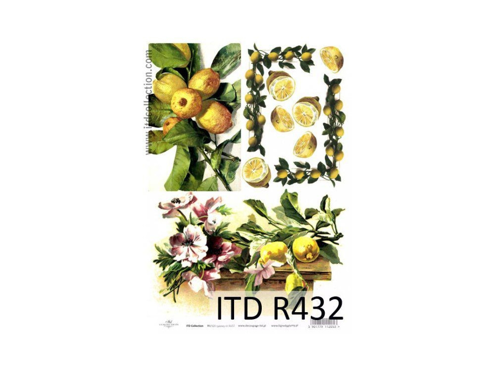 Papier do decoupage A4 - ITD Collection - ryżowy, R432