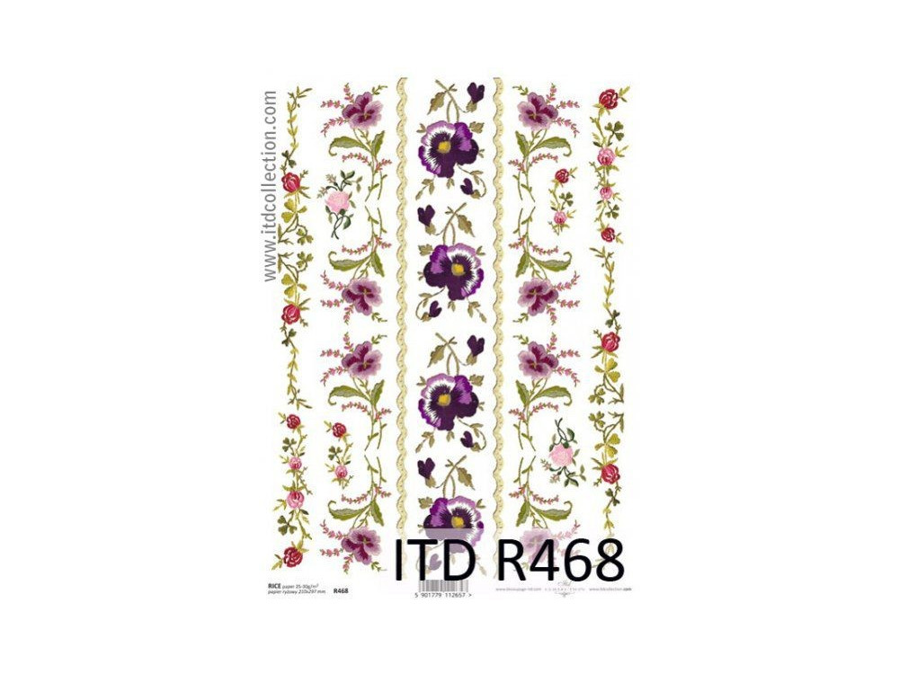 Papier do decoupage A4 - ITD Collection - ryżowy, R468