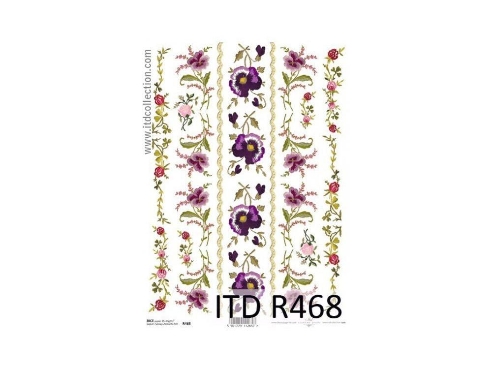 Papier ryżowy decoupage ITD R468