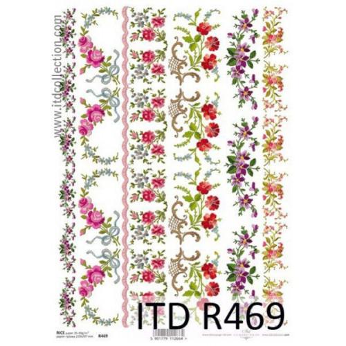 Papier ryżowy decoupage ITD R469