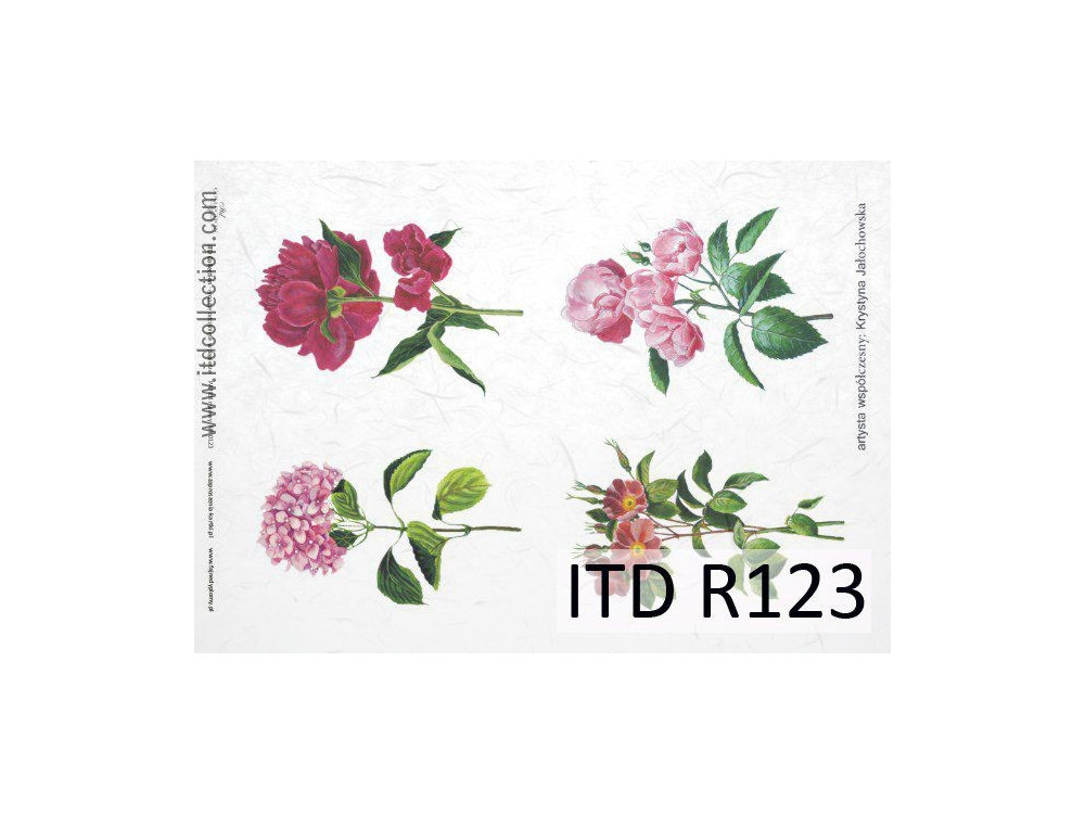 Papier do decoupage A4 - ITD Collection - ryżowy, R123
