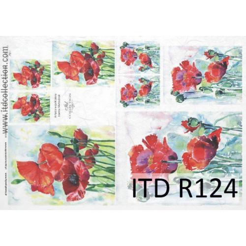 Papier ryżowy decoupage ITD R124