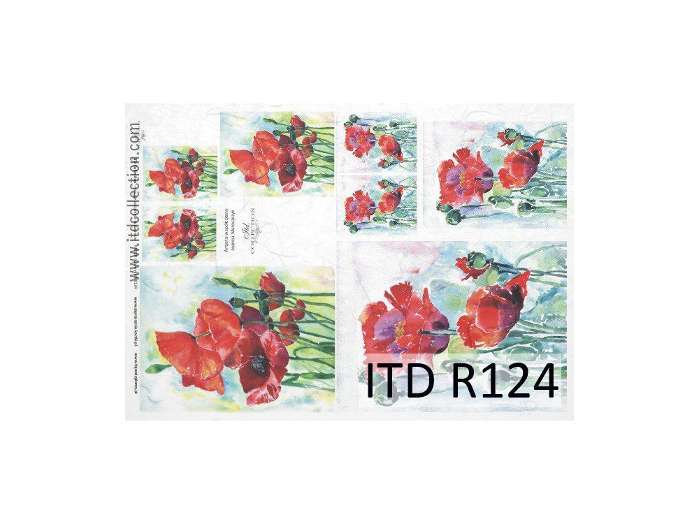 Decoupage paper A4 - ITD Collection - rice, R124