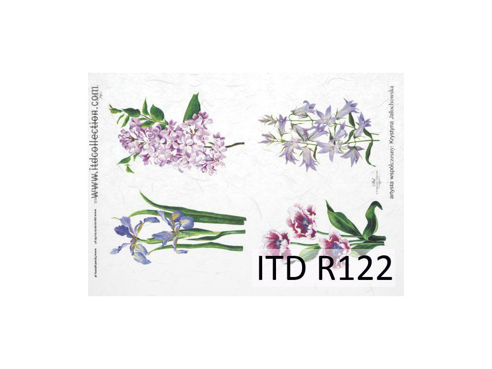 Papier do decoupage A4 - ITD Collection - ryżowy, R122
