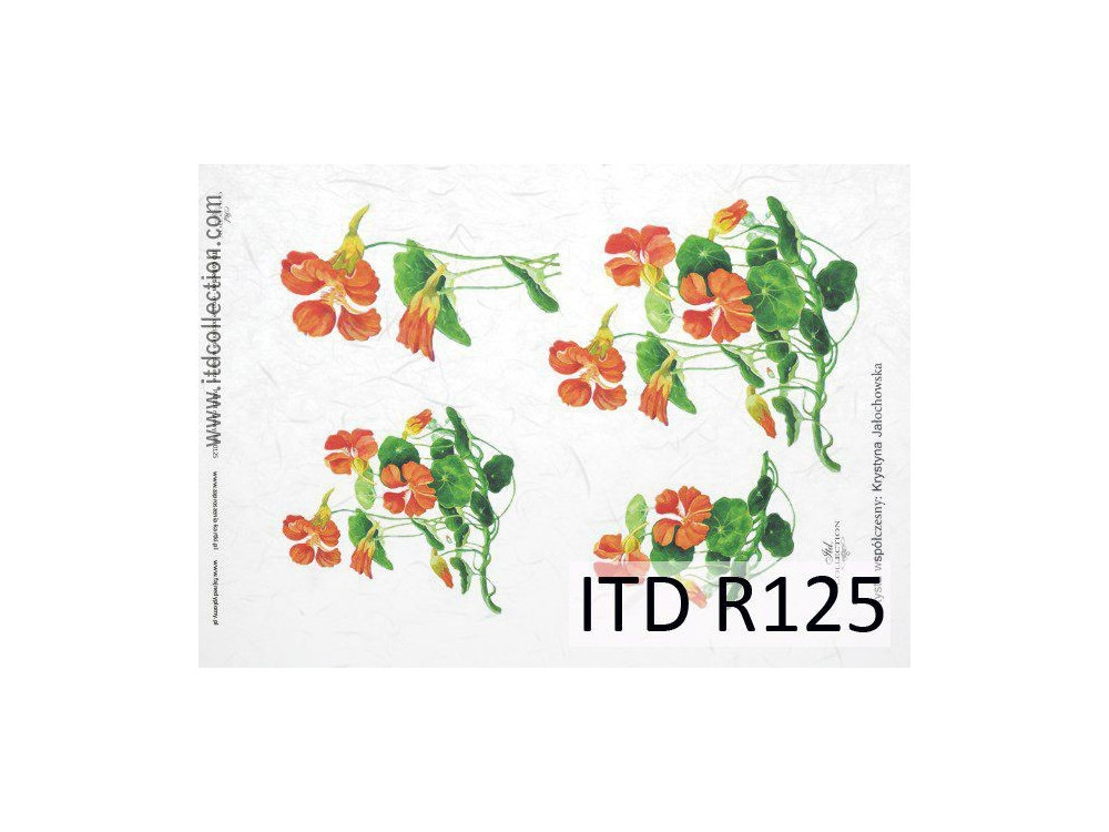 Papier do decoupage A4 - ITD Collection - ryżowy, R125