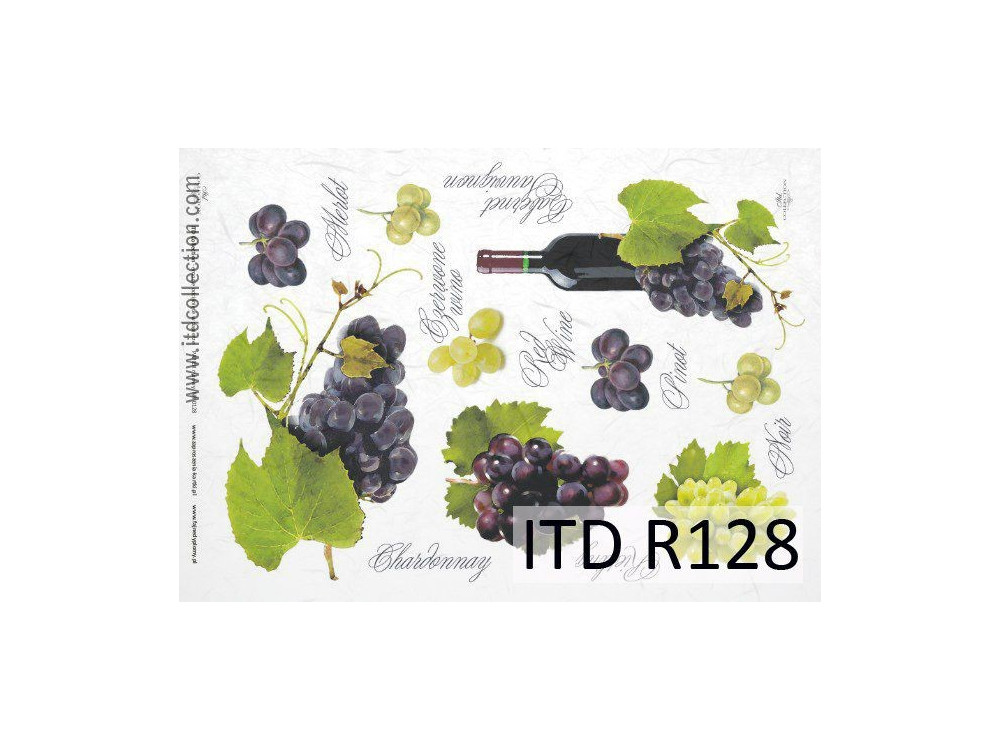 Papier do decoupage A4 - ITD Collection - ryżowy, R128