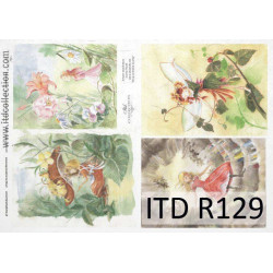 Papier do decoupage A4 - ITD Collection, ryżowy, R129