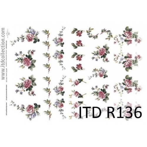Papier ryżowy decoupage ITD R136