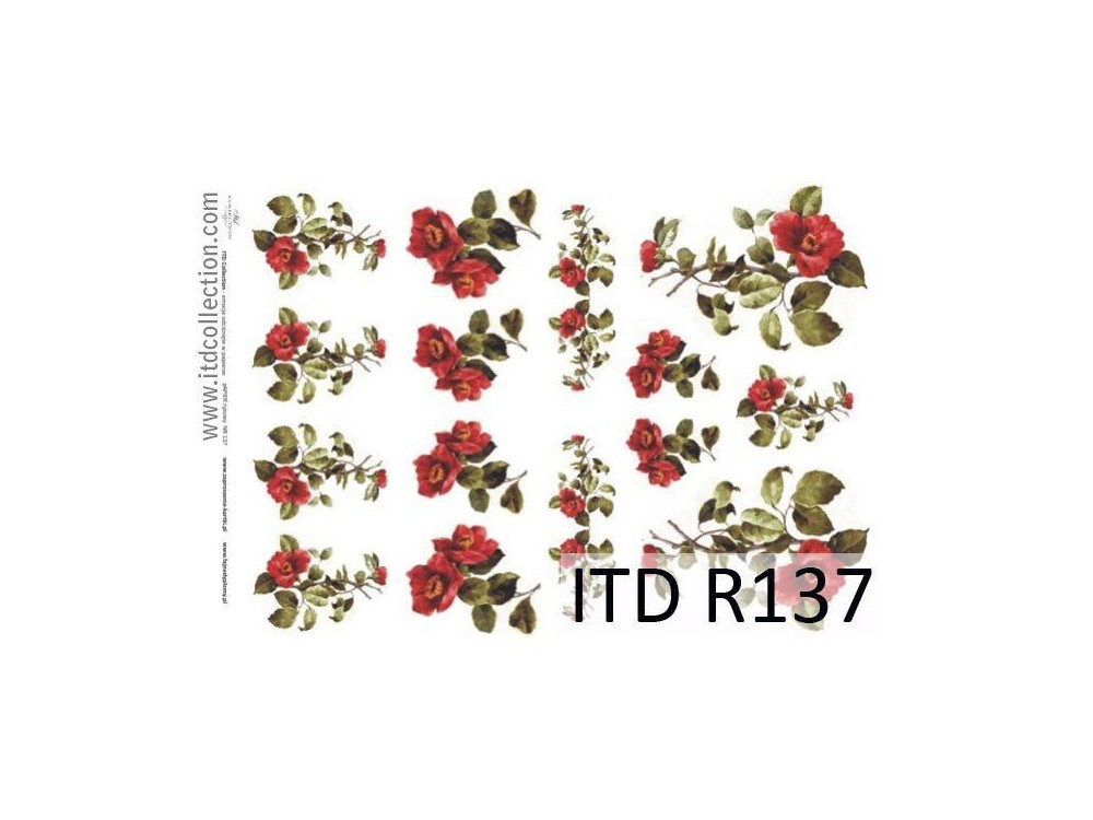 Decoupage paper A4 - ITD Collection - rice, R137