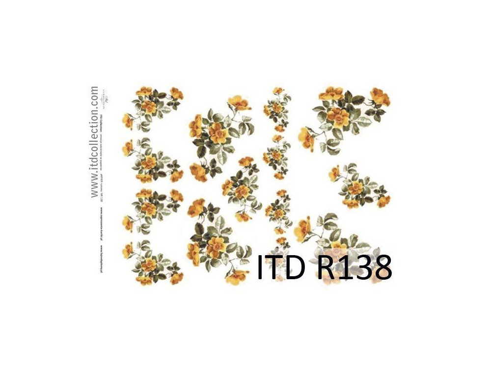 Decoupage paper A4 - ITD Collection - rice, R138
