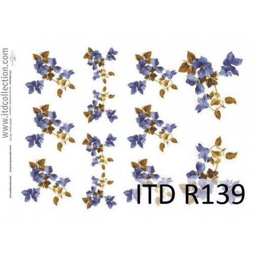 Papier ryżowy decoupage ITD R139