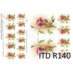 Papier do decoupage A4 - ITD Collection - ryżowy, R140