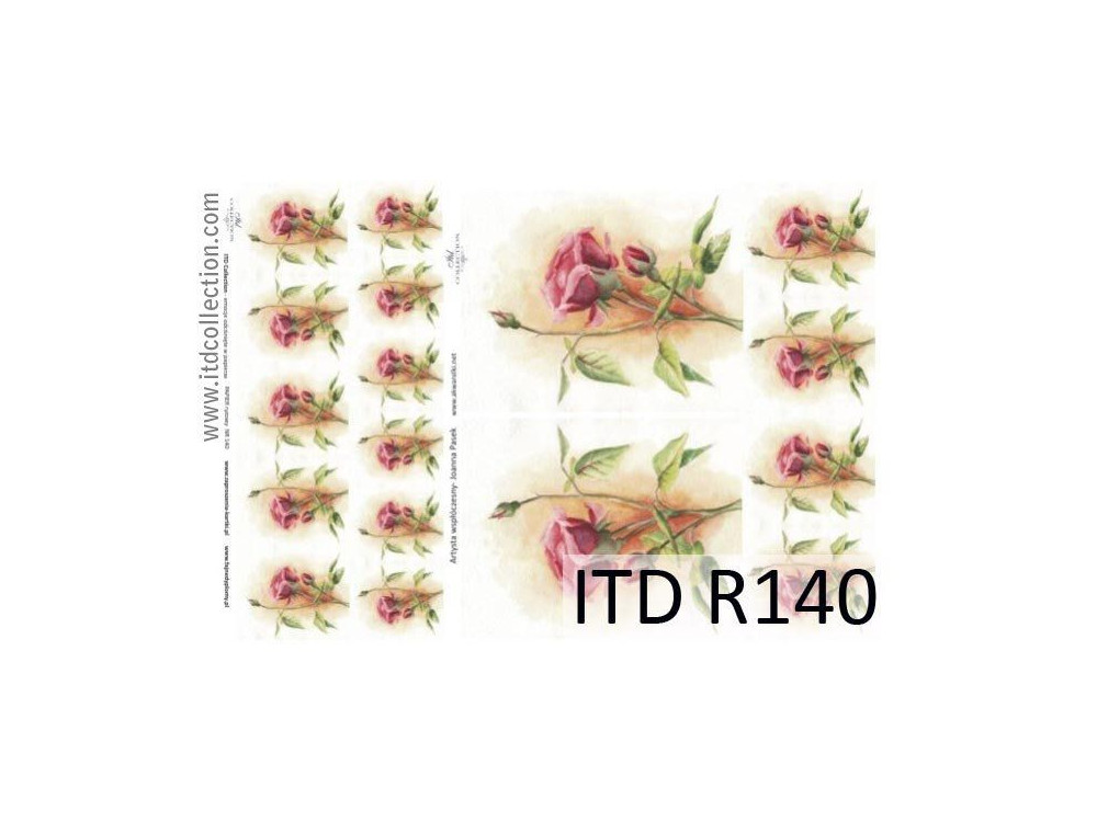 Decoupage paper A4 - ITD Collection - rice, R140