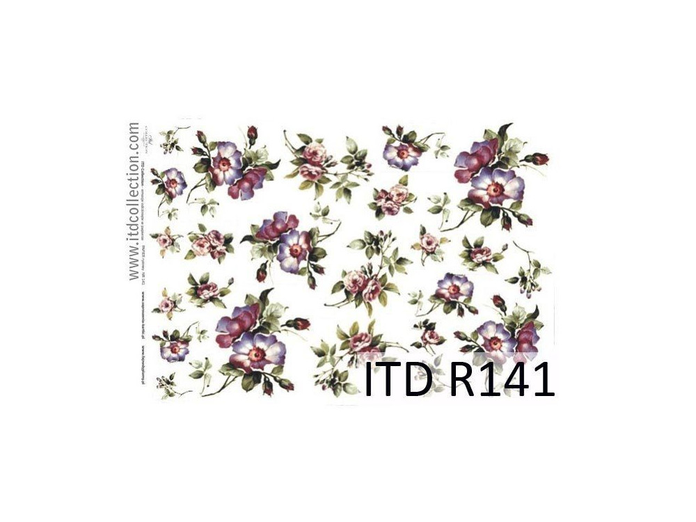 Decoupage paper A4 - ITD Collection - rice, R141