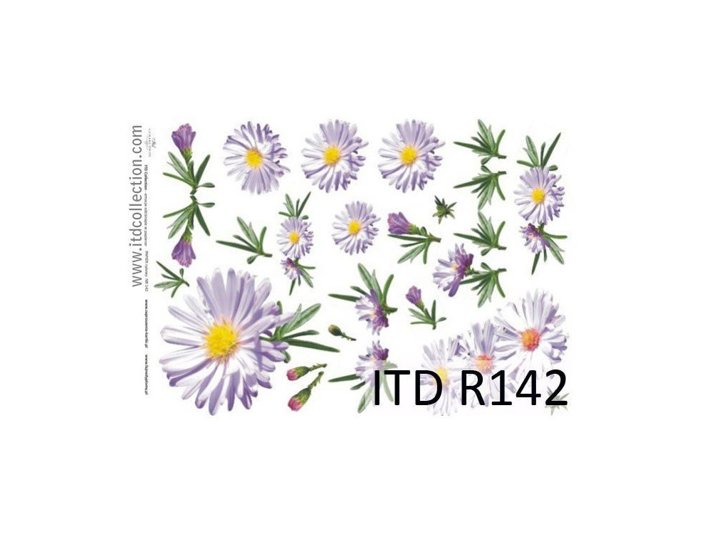 Papier do decoupage A4 - ITD Collection - ryżowy, R142