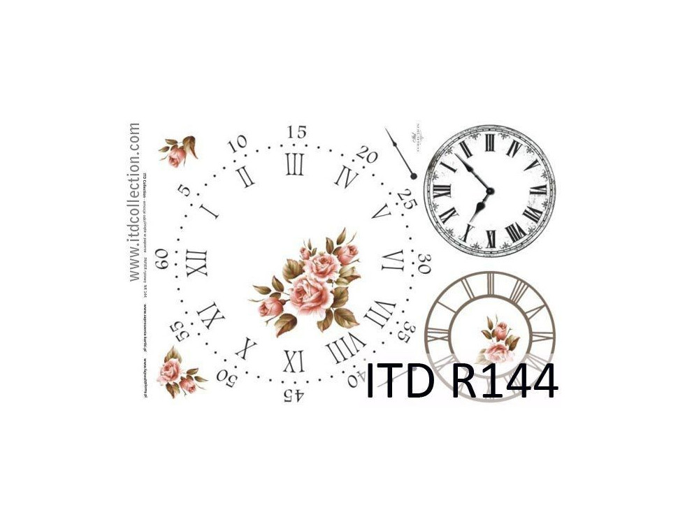 Papier do decoupage A4 - ITD Collection - ryżowy, R144