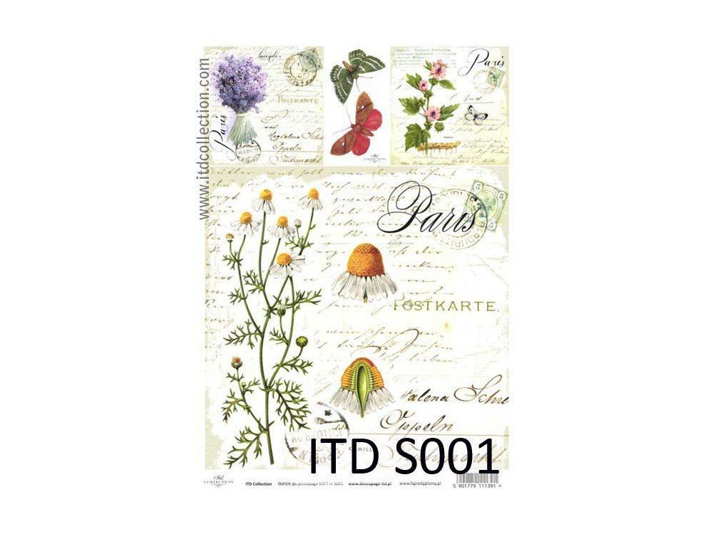 Papier decoupage soft ITD S001