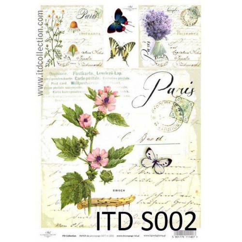 Papier decoupage soft ITD S002