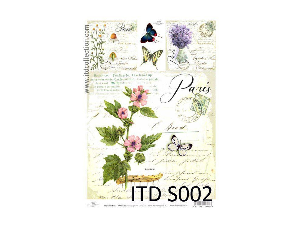 Papier do decoupage A4 - ITD Collection - soft, S002