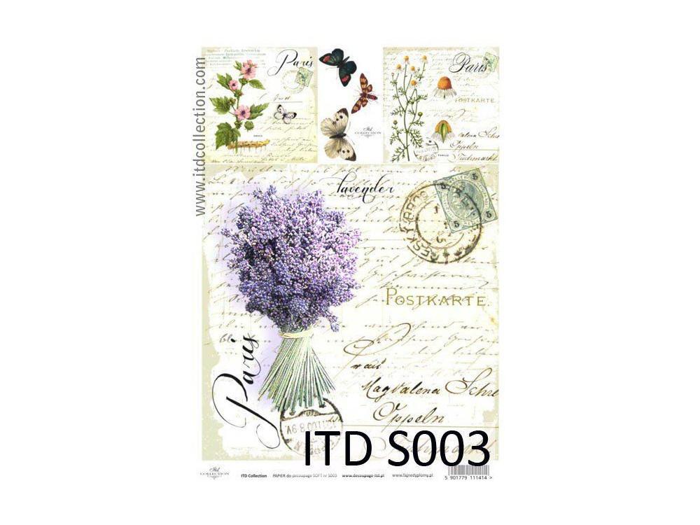 Papier do decoupage A4 - ITD Collection - soft, S003