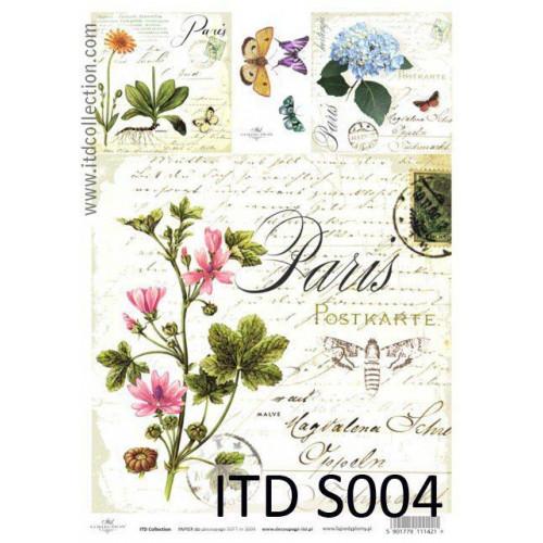 Papier decoupage soft ITD S004