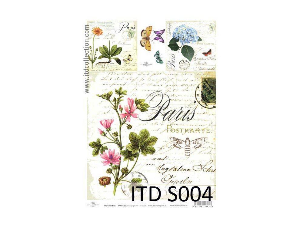 Papier do decoupage A4 - ITD Collection - soft, S004
