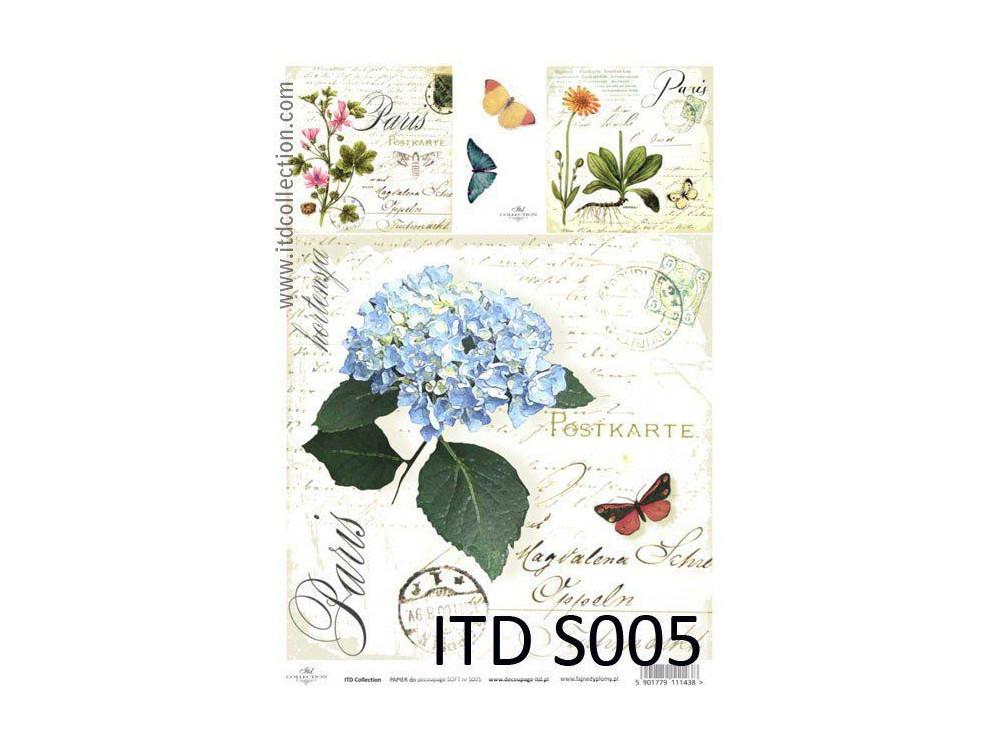 Papier decoupage soft ITD S005