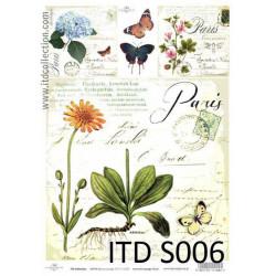 Papier do decoupage A4 - ITD Collection - soft, S006