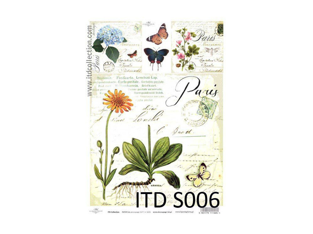 Papier do decoupage A4 - ITD Collection - soft, S006