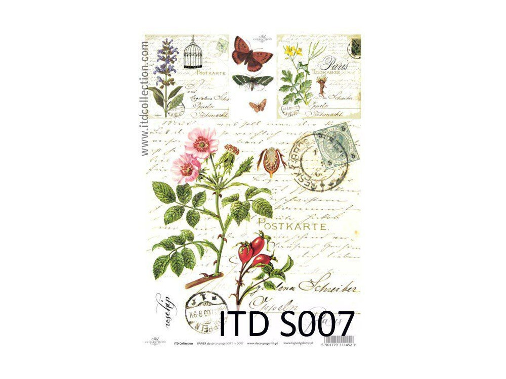 Decoupage Paper Soft ITD S007