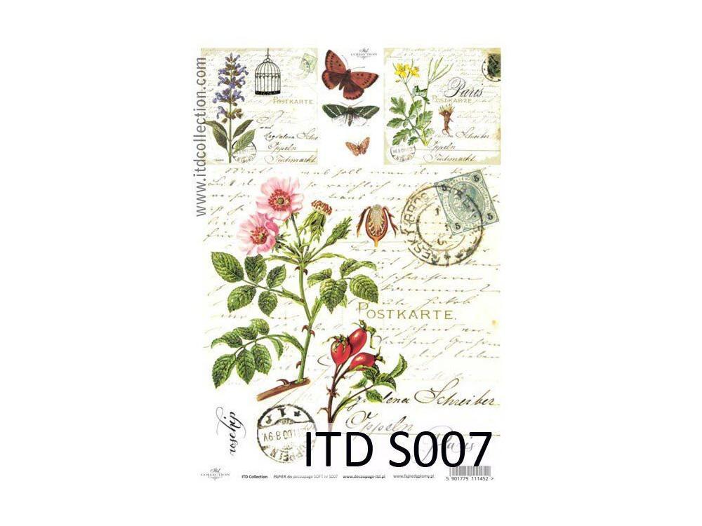 Papier decoupage soft ITD S007